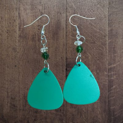 green-pick-earrings