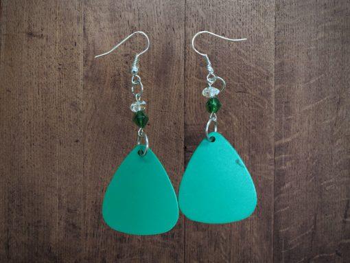 green-pick-earrings